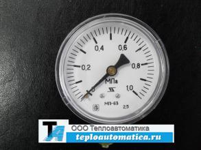 Манометр МП63П-1,6МПа -радиальный (МП63-1,0МПА - осевой)