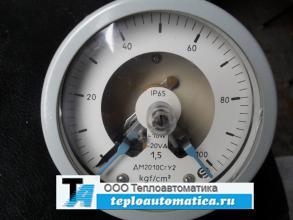 Распродажа манометр электроконтактный ДМ2010СгУ2 0-100 kgf/cm² кл.т. 1,5