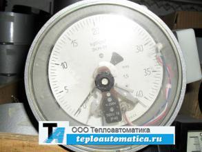 манометр электроконтактный ЭКМ 1У на давление 40 бар кгс/см2 4 МПа исполнение V